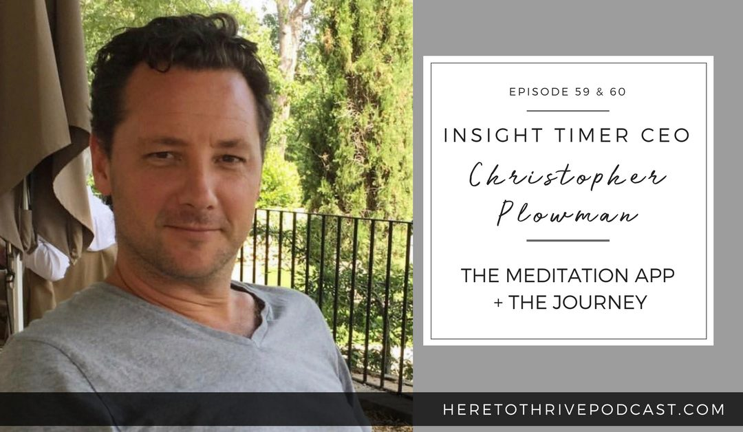 #59 & 60. Insight Timer CEO Christopher Plowman – On the Meditation App + the Journey